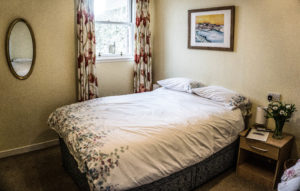 Double bed in Oyster Catcher room