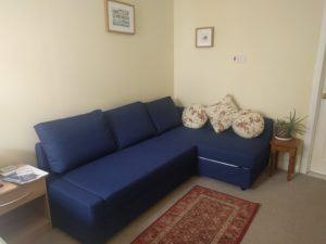 View of sofa bed (as sofa)